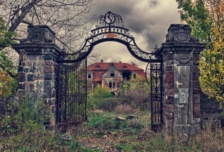 11)  An Overgrown Palace – Poland